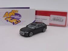 """Herpa 430685 # Audi A6 Avant in """" brillantschwarz """" mit zweifarbigen Felgen 1:87"""