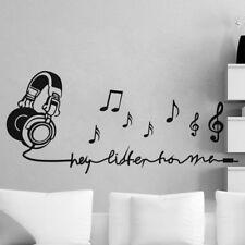 Listen Music Note Bedroom Living Room DIY Wall Sticker Mural Art Vinyl Decals