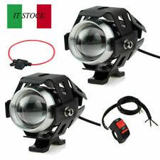 2PZ MOTO AUTO LED FARETTO CREE U5 125W3000LM LAMPADA FARO ANTERIORE+INTERRUTTORE