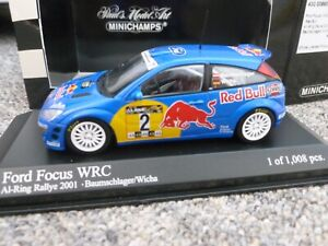 Minichamps 1/43 scale Ford Focus WRC A1-Ring Rally 2001 Red Bull