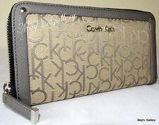 Calvin Klein Wristlet Hand Bag Zip Around Handbag Purse Wallet  Clutch  Coin CK