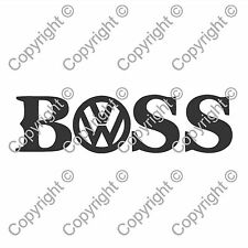 Volkswagen BOSS Hugo Boss Wag Car Window Van JDM VW EURO Vinyl Decal Sticker