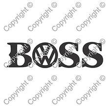 Volkswagen BOSS Hugo Boss Wag Car Window Van JDM VW EURO Vinyl Decal Sticker