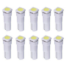NEW 10 Pcs White 5050 1-SMD Indicator Dashboard LED Bulbs Lamp T5 74 37 73 257