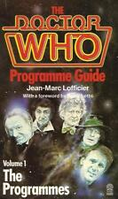 The DOCTOR WHO Programme Guide Volume 1 by Jean-Marc Lofficier (Paperback)
