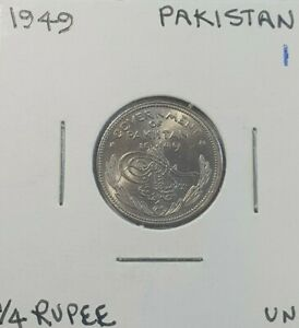 1949 Pakistan 1/4 rupee coin Brilliant Uncirculated
