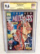 New Mutants #98 CGC 9.6 1991 Stan Lee Signature! 1st Deadpool! WP! H7 165 H10 cm