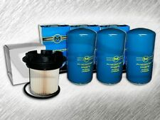 7.3L TURBO DIESEL 3 OIL FILTERS & F55055C FUEL FILTER W/ CAP COMBO KIT FOR FORD