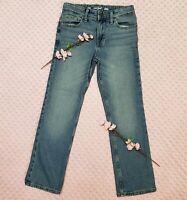 Cat & Jack Girls Size 10 Adjustable Waist Straight Leg Blue Jeans NWOT