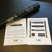 1990's Bernie Williams Rookie Era Signed Game Used Baseball Bat PSA DNA GU 8 COA