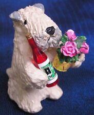 Soft Coated Wheaten Terrier WINE & FLOWERS!