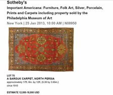 Persian Carpet Sarouk ex-Sotheby's Beautiful!