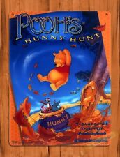 TIN SIGN  Disney Pooh's Hunny Hunt Tokyo Attraction Ride Poster Art Cars