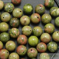 Natural Unakite Gemstone Round Loose Beads 2mm 3mm 4mm 6mm 8mm 10mm 12mm 16''