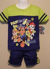 BOYS 3T Paw Patrol 2-piece outfit / t-shirt & shorts NWT Chase Rubble Marshall