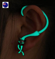 Women Man Punk Glow in Dark Luminous CAT Kitty Party earring Ear hook studs