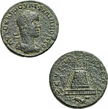 Philipp II. Zeugma Kommagene Bronze Tempel Zeus Peribolos Ketos SNG Cop. 35