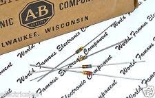 10pcs - Allen Bradley 20K 0.25W 5% Carbon Composition Resistor - AB 1/4W