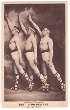 Circo culturismo 3 robertys nuda uomo wrestler volte semi nude c1920 GAY INT