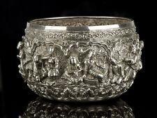 c1850 Burma King Pagin Min Silver Thabeik Bowl