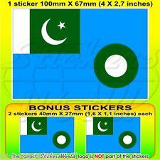 PAKISTAN Luftwaffe Flagge PAKISTANISCHE 100mm Vinyl Sticker Aufkleber x1+2 BONUS