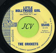 THE CRICKETS Little Hollywood Girl / Parisian Girl   ROCK  45 RPM  RECORD