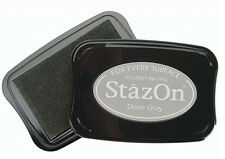 STAZON Solvent Ink Pad  DOVE GRAY  Tsukineko Archival
