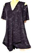 plus sz XS / 14 TS TAKING SHAPE Grace Glitter Top sexy cold shoulder NWT rp$120!