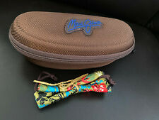 New Maui Jim Case  Sport Large Brown Zippered with Pouch