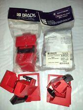 Lot Of 4 New Brady 65397 Single Pole No Hole Circuit Breaker Lockouts Amp Cleats