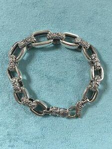 "JAI John Hardy Sterling Link Bracelet 7.5"""