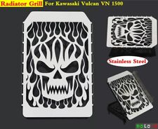 Motorcycle Stainless Skull Radiator Grille Cover For Kawasaki Vulcan VN 1500