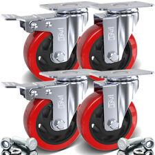 Dsl 4 Double Bearing 700kg 100mm Rubber Swivel Castor Wheel Trolley Caster Bolt