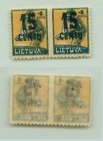 Lithuania 1922 SC 153 mint missing perf pair . f3124