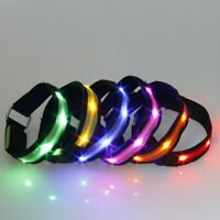 Nylon Pet LED Dog Collar Adjustable Light Safety Anti-lost Flashing Glow Collars
