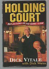 Basketball   HOLDING COURT w/dj Ex++ Dick Vitale  SIGNED  1st Ediiton 1995