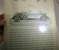 V-12 Lincoln 1932 Magazine Ad clippings advertisement
