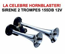 TROMPE HORNBLASTER 12V 2 TROMPES PUISSANCE 155db!!! CAMPING CAR RV CAMION 4X4
