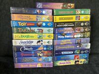 21 X Walt Disney VHS Tapes Video Bundle Lot Set Fantasia Aladdin Black Cauldron