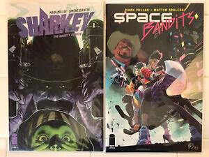 Sharkey The Bounty Hunter #1 & Space Bandits #1 NM 1st Prints! Image Millar 2019