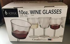 MG-J0 10 oz. Clear Acrylic Wine Goblet - Pack Of 6