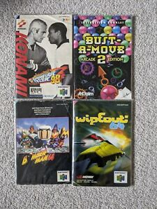 4x Nintendo 64 Instruction Manuals Bundle (N64) inc. Bomber Man 64, Wipeout 64