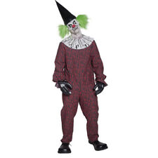 COSTUME CLOWN HORROR PAGLIACCIO HALLOWEEN TRAVESTIMENTI TG L