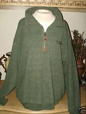 Tommy Hilfiger Green fabric pullover Jacket w/front upper zipper. Size XLarge.