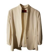 Chaqueta de vestir blanca Burberry T:44
