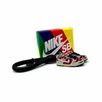 3D Sneaker Keychain- Nike SB Dunk Low Freddy Kruger Pair GIFT SET