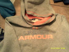 Under Armour Loose Fit Sweatshirt Hoodie Size Youth XL GRY/ORNG