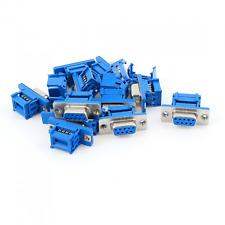10pcs D-SUB DB9 9 Pin Female IDC Crimp Connector for Flat Ribbon Cable