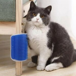 Cat Corner Scratcher Pet Hair Removal Massage Comb Kitten Grooming Brush Tools.