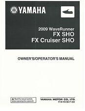 Yamaha Owners Manual WaveRunner 2009 FX SHO & FX CRUISER SHO
